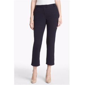 Tory Burch Navy Stretch Kayden Knit Cropped Pants